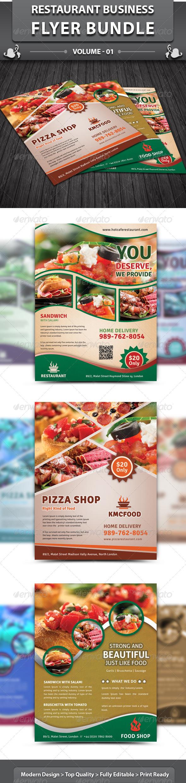GraphicRiver Restaurant Business Flyer Bundle v1 4948618