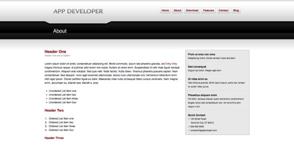 App Developer - Technology Site Templates