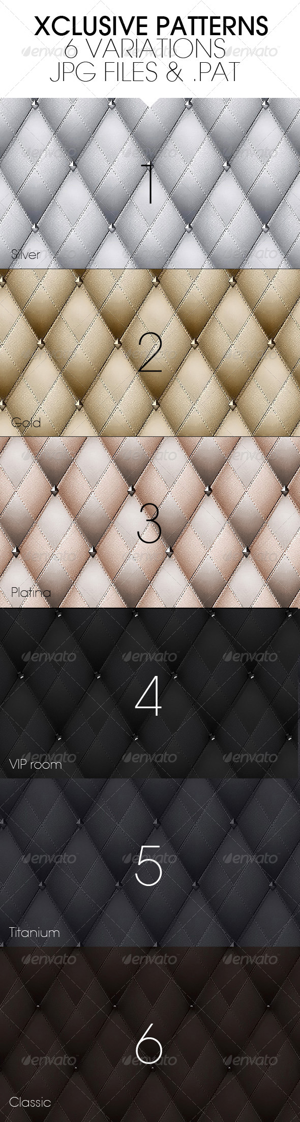 GraphicRiver Xclusive Leather Patterns 4948692