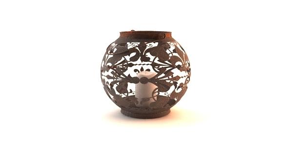 Rustic Lamp Decor - 3DOcean Item for Sale