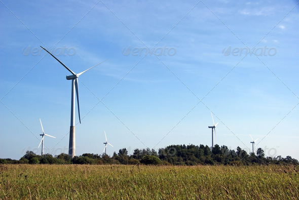 Landscape With a Propeller - Stock Photo - Images