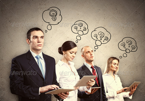 Businesspeople team posing - Stock Photo - Images