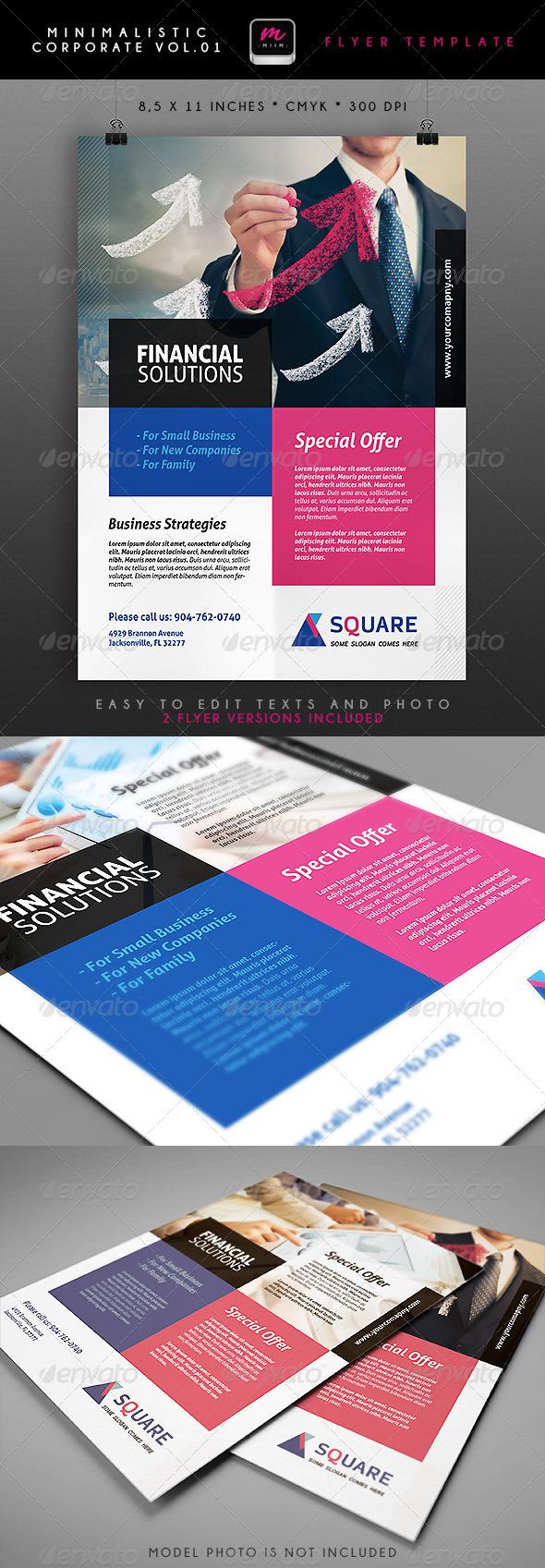GraphicRiver Minimalistic Corporate Flyer 1 4949173