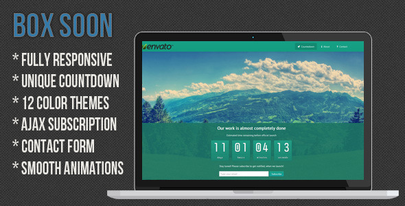 BoxSoon - Responsive Coming Soon Page