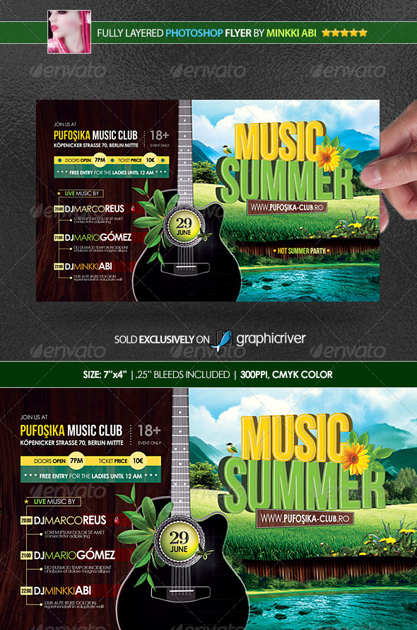 GraphicRiver Summer Music Poster Flyer 4949610