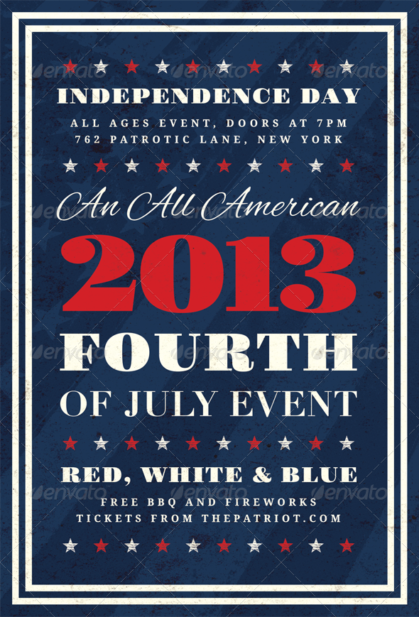 GraphicRiver Independence Fourth of July Flyer Template 4949670