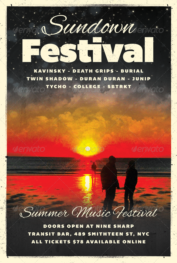 Sundown - Summer Flyer Template