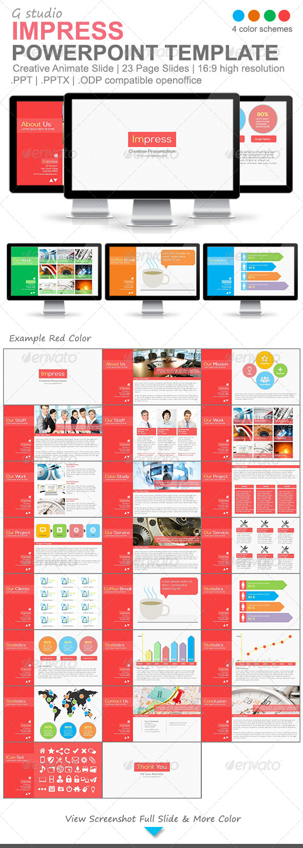 GraphicRiver Gstudio Impress Powerpoint Template 4918705