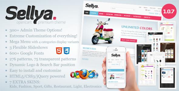 Sellya - Responsive OpenCart Theme - OpenCart eCommerce