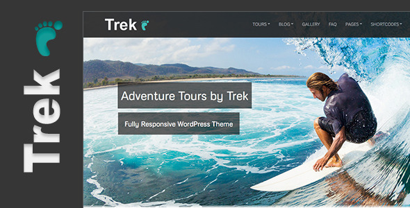 Trek - Responsive WordPress Tour/Travel Theme - Theme preview.