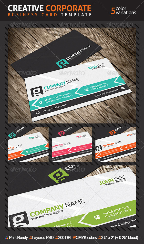 GraphicRiver Creative Business Card Template 4892431