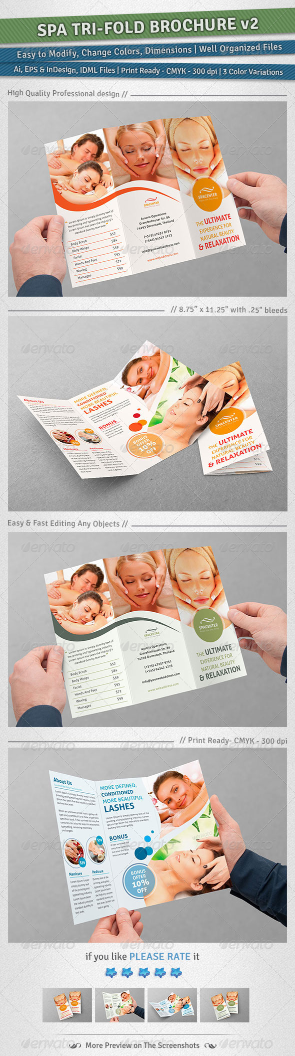GraphicRiver Spa Tri-Fold Brochure Volume 2 4955371