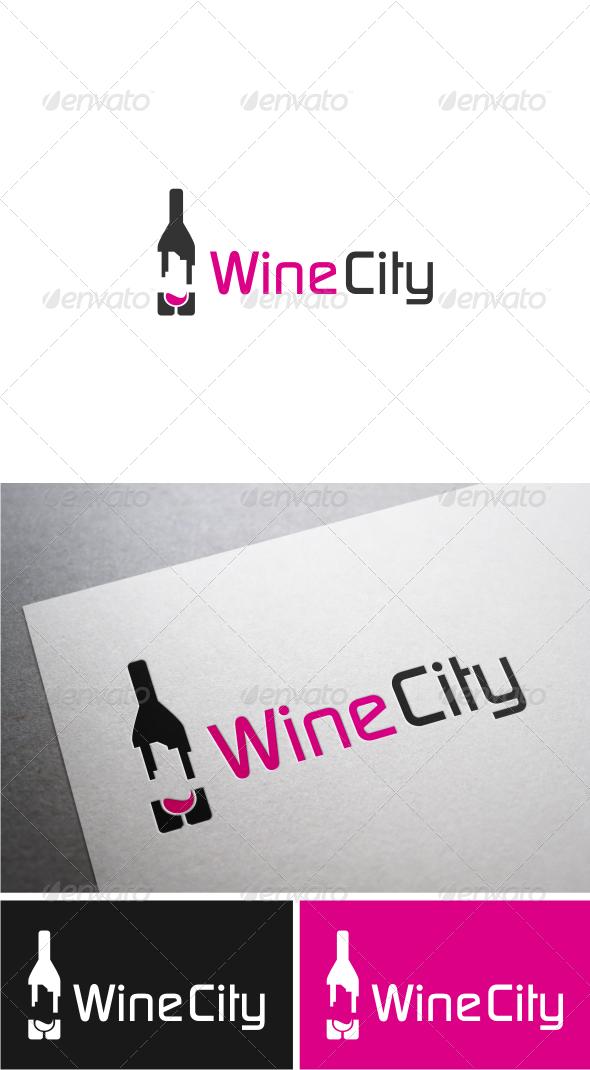 GraphicRiver Wine City Logo 4955562
