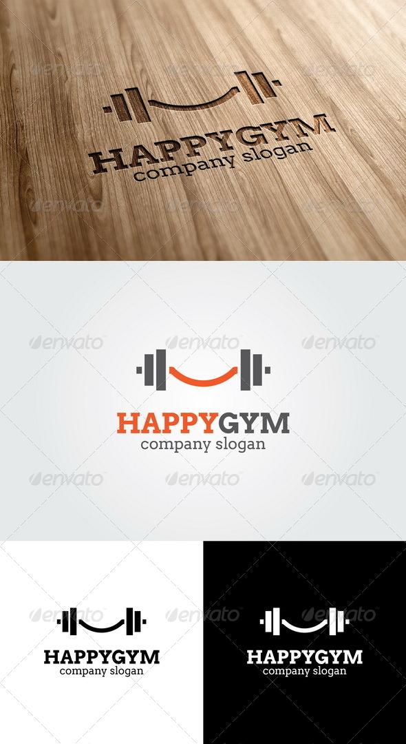 GraphicRiver Happy Gym Logo 4955669