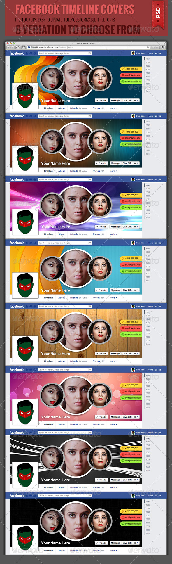 GraphicRiver Facebook Timeline Covers 4940028