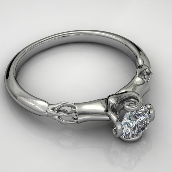 3DOcean Diamond Ring NRC10 4956147