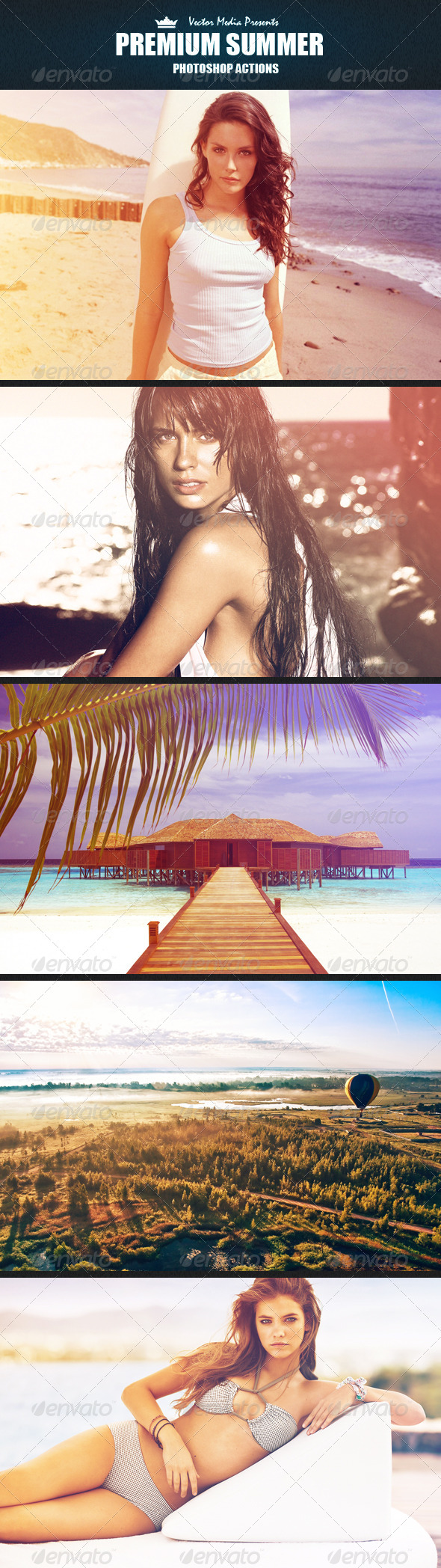 GraphicRiver Premium Summer Photoshop Actions 4956149