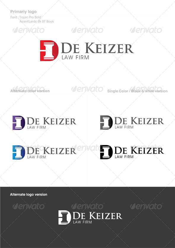 GraphicRiver Law Firm Logo 4947954