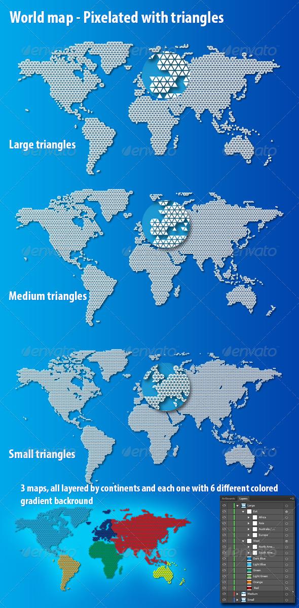 GraphicRiver World Map Triangles 4927896