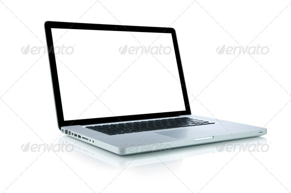 Laptop (Clipping path included) - Stock Photo - Images