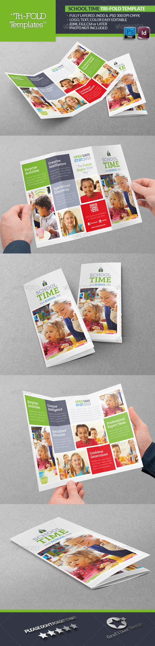 GraphicRiver School Time Tri-Fold Template 4956536