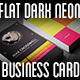 Flat Dark Neon Business Card - GraphicRiver Item for Sale