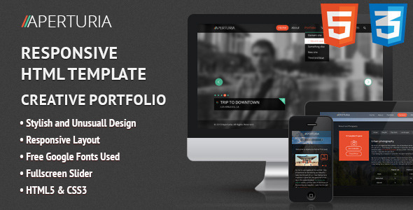 ThemeForest Aperturia Responsive HTML Template 4954519