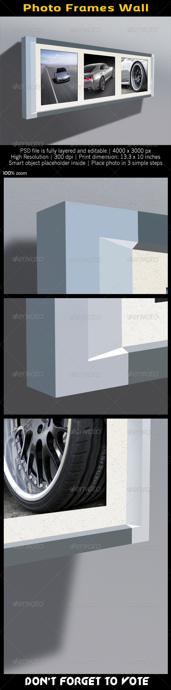 GraphicRiver Photo Frames Wall 4957442