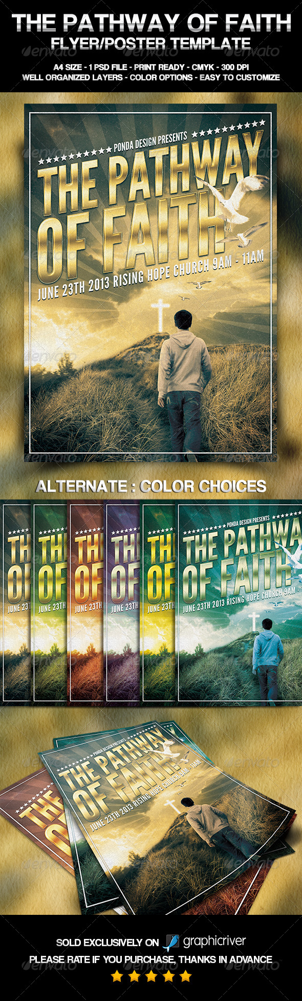The Pathway of Faith Flyer/Poster Template - Church Flyers