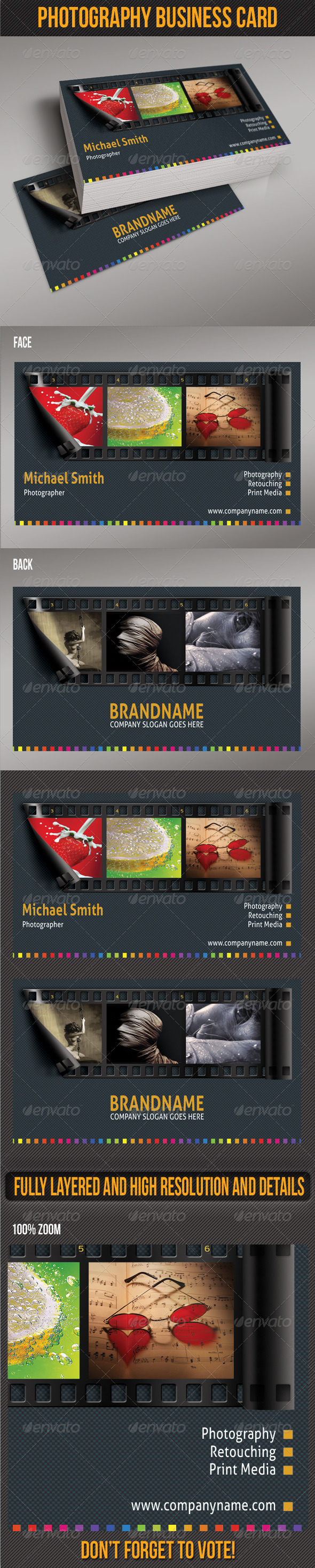 GraphicRiver Photography Business Card 4958133