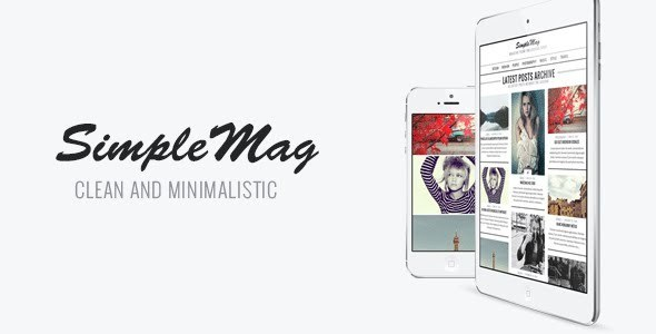 ThemeForest SimpleMag Magazine theme for creative stuff 4923427