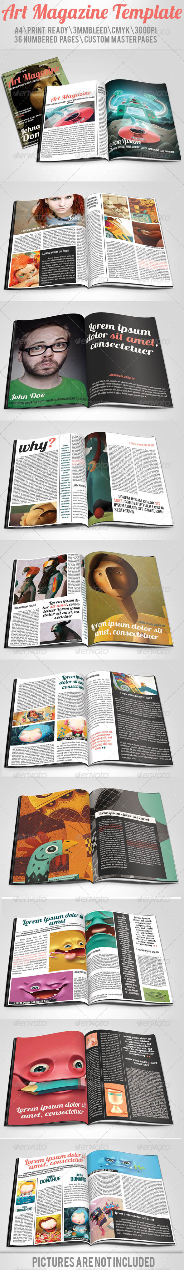GraphicRiver Art Magazine Template 4958918