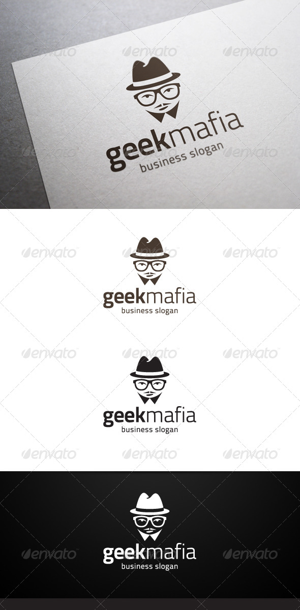 GraphicRiver Geek Mafia Logo 4958950