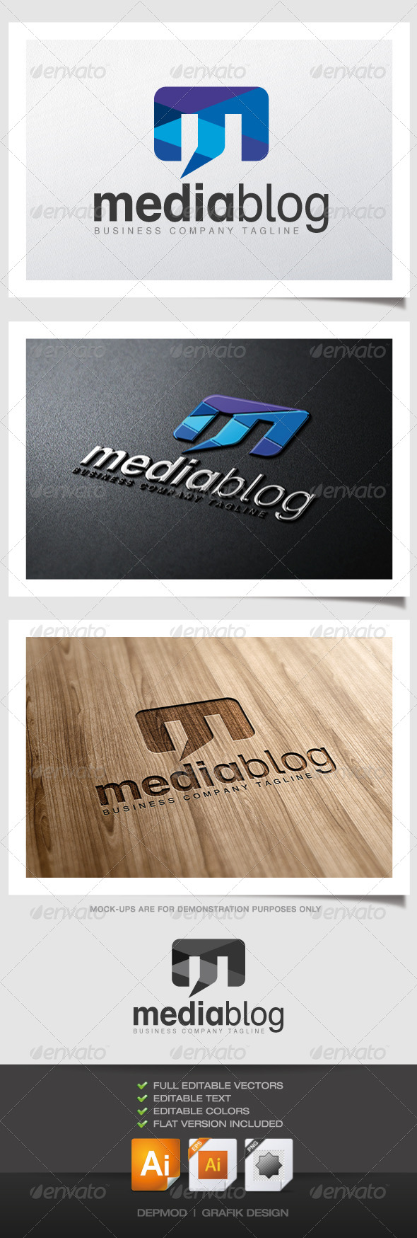 Media Blog Logo - Letters Logo Templates
