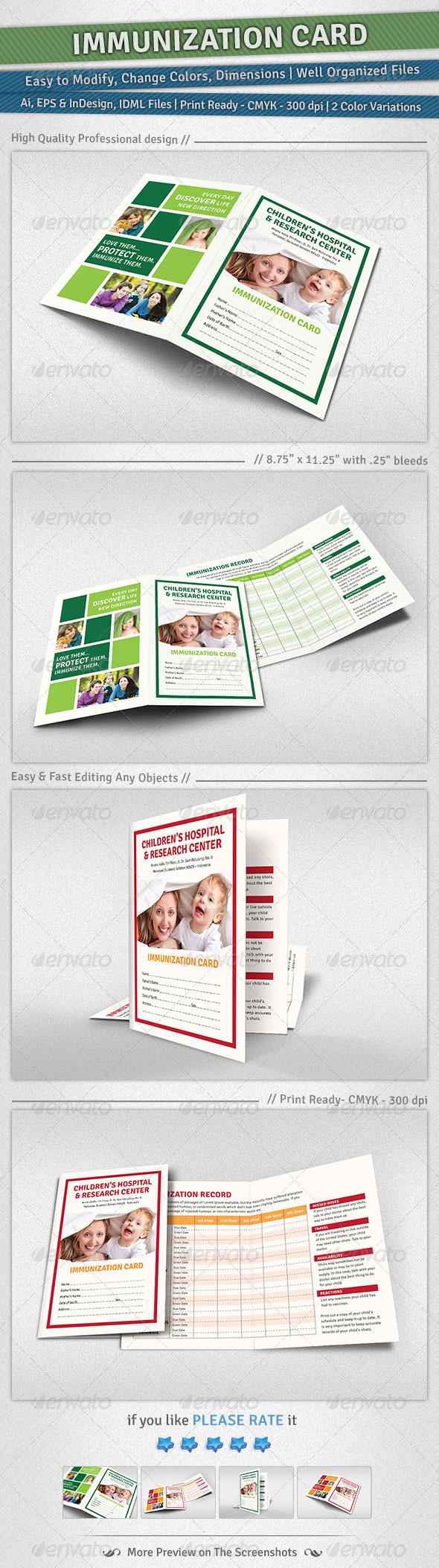 GraphicRiver Immunization Card 4959243