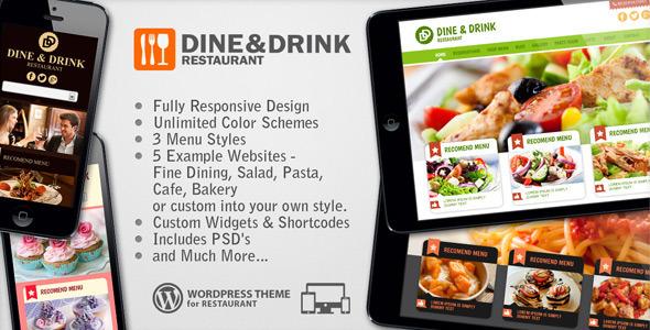 ThemeForest Dine & Drink Restaurant Responsive WP Theme 4924480