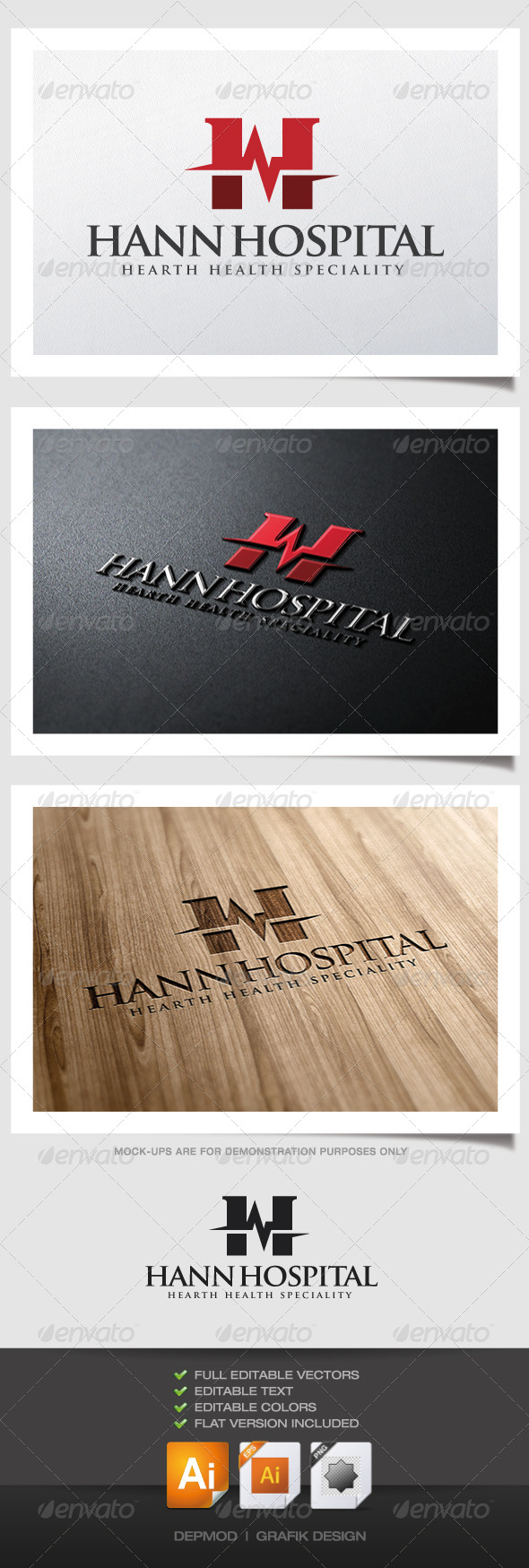 GraphicRiver Hann Hospital Logo 4959503