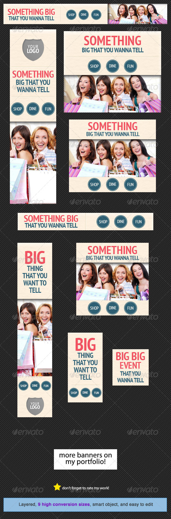 GraphicRiver Shop and Dine Web Banner Design Template 4959522