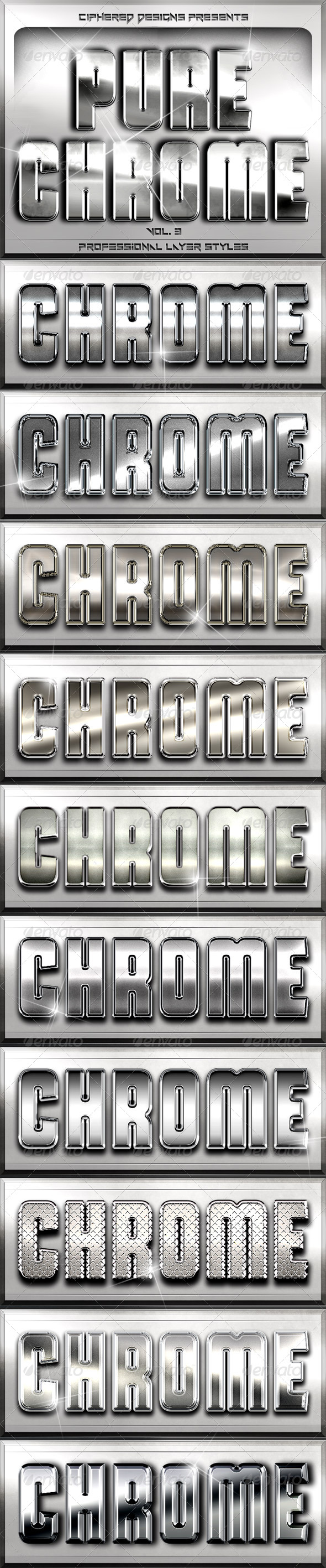 GraphicRiver Pure Chrome 3 Professional Layer Styles 4959567