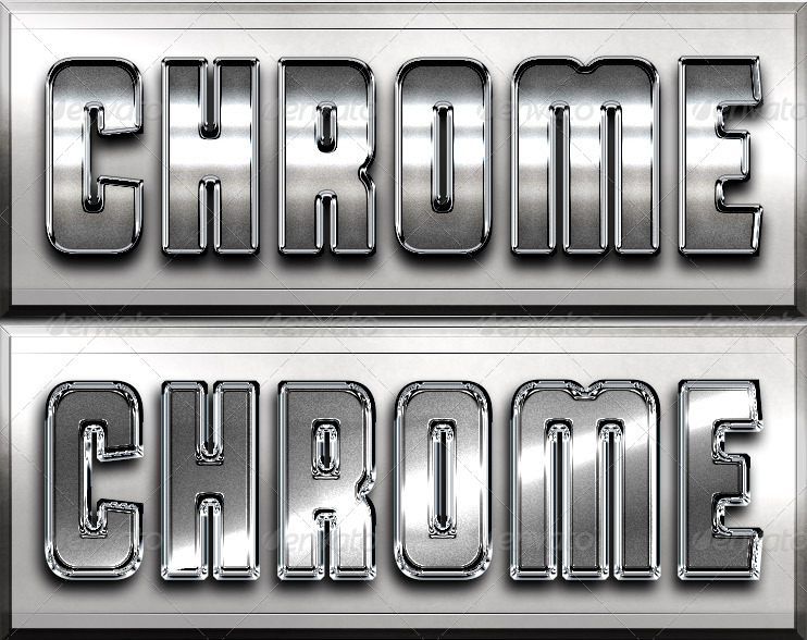 Pure Chrome 3 - Professional Layer Styles