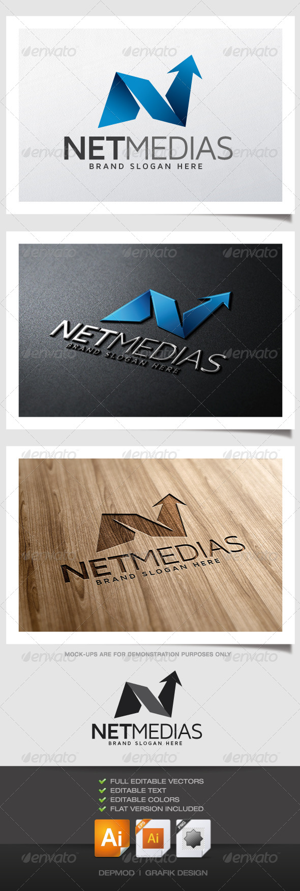 Net Medias Logo - Abstract Logo Templates