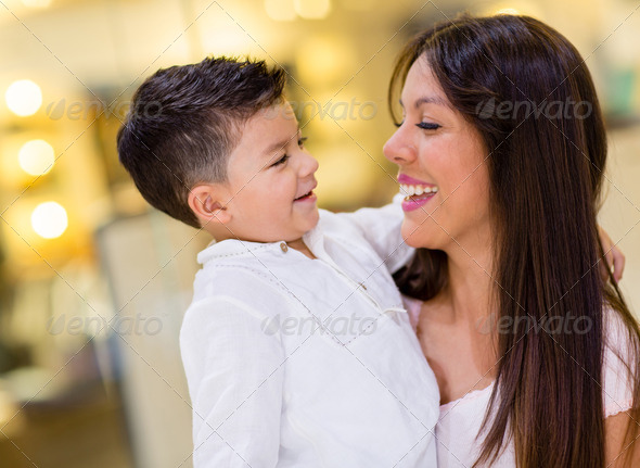Happy mother and son - Stock Photo - Images