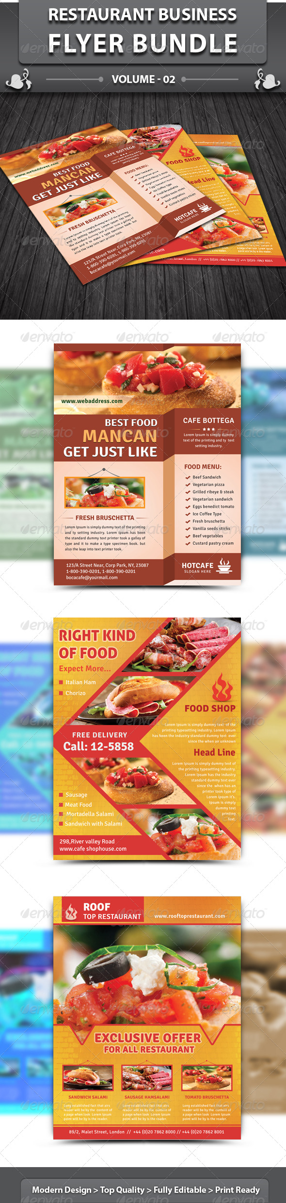 Restaurant Business Flyer | Bundle 2