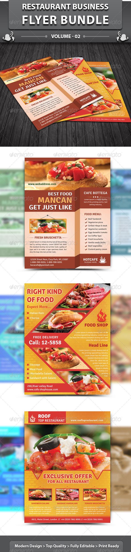 GraphicRiver Restaurant Business Flyer Bundle v 2 4959873