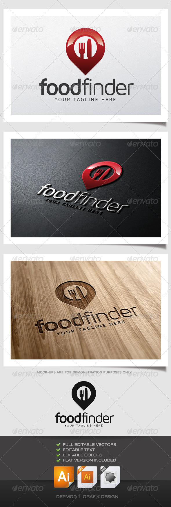 GraphicRiver Food Finder Logo 4960132