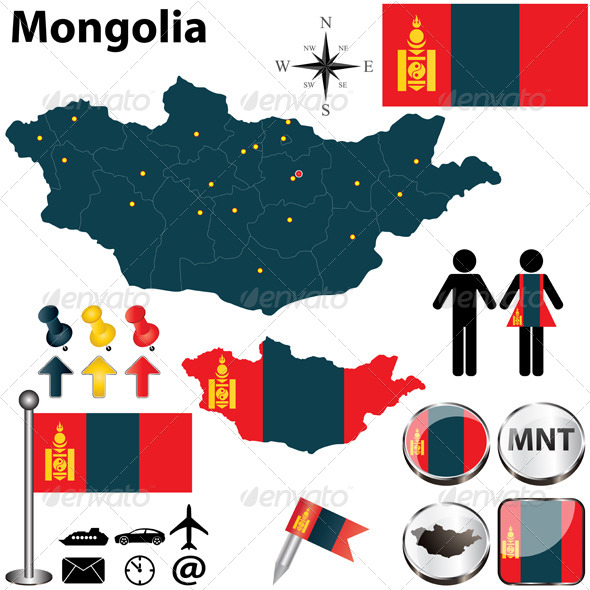 GraphicRiver Map of Mongolia 4960523