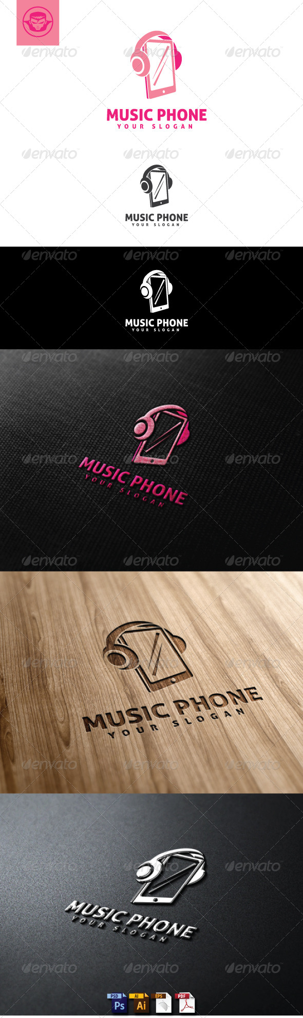 GraphicRiver Music Phone Logo Template 4960680