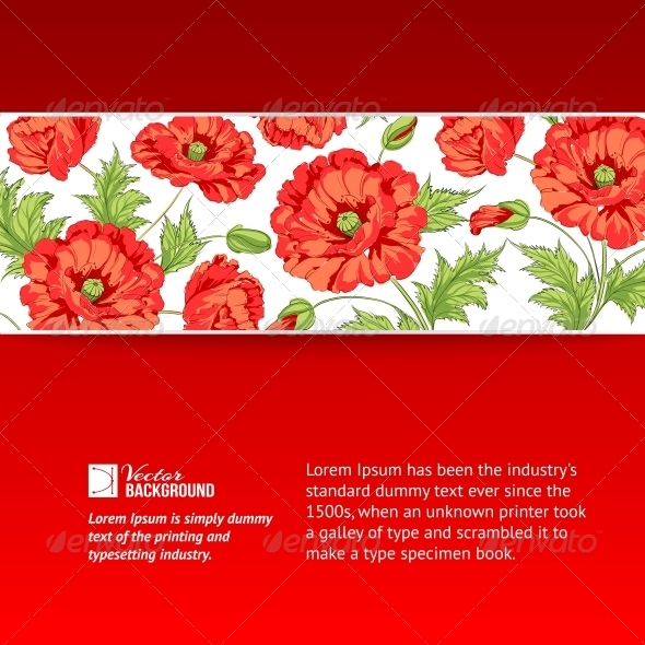 GraphicRiver Background with Red Poppies 4960762