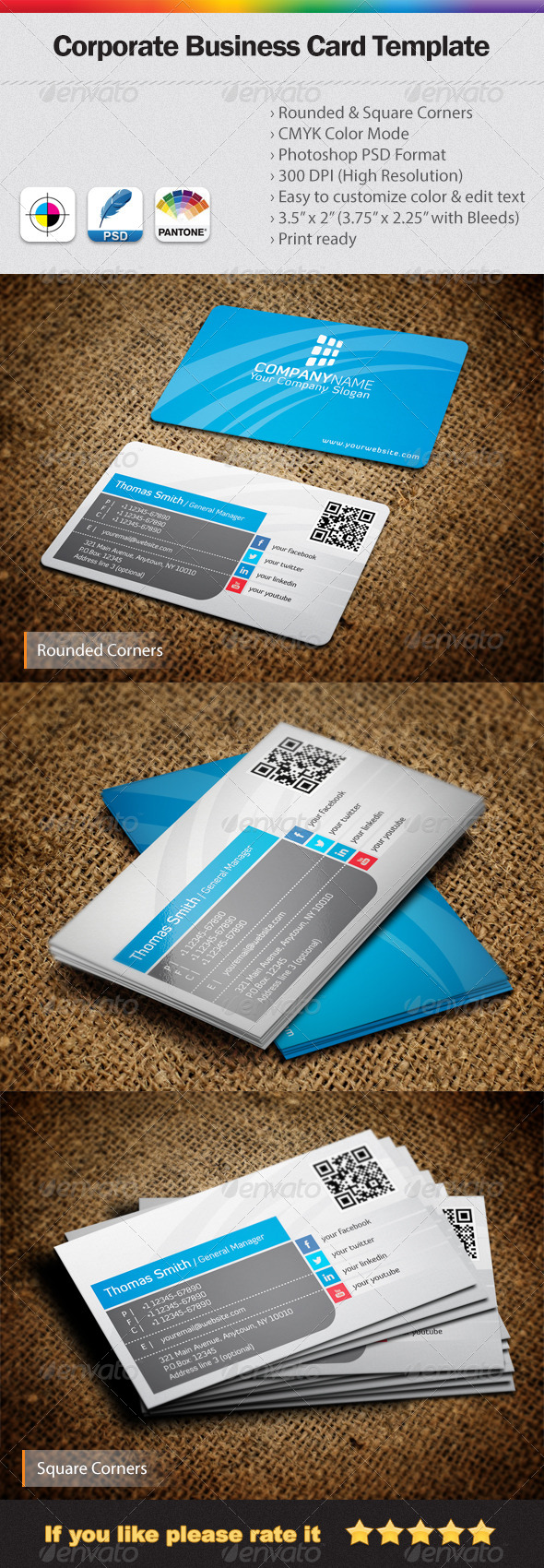 GraphicRiver Corporate Business Card 4960813
