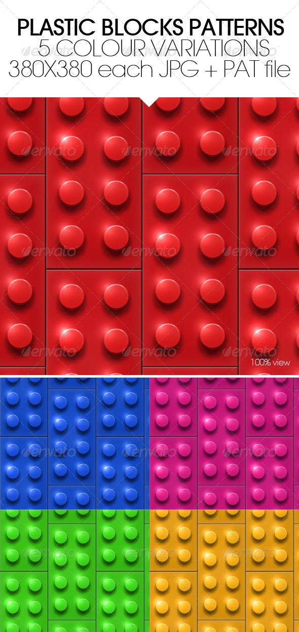 GraphicRiver Plastic Blocks Patterns 4960841